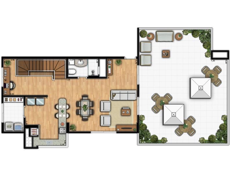 Apartamento Duplex 1B
