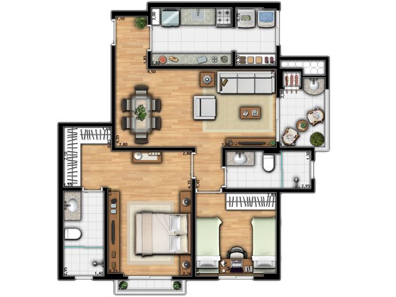 Apartamento Torre 2B