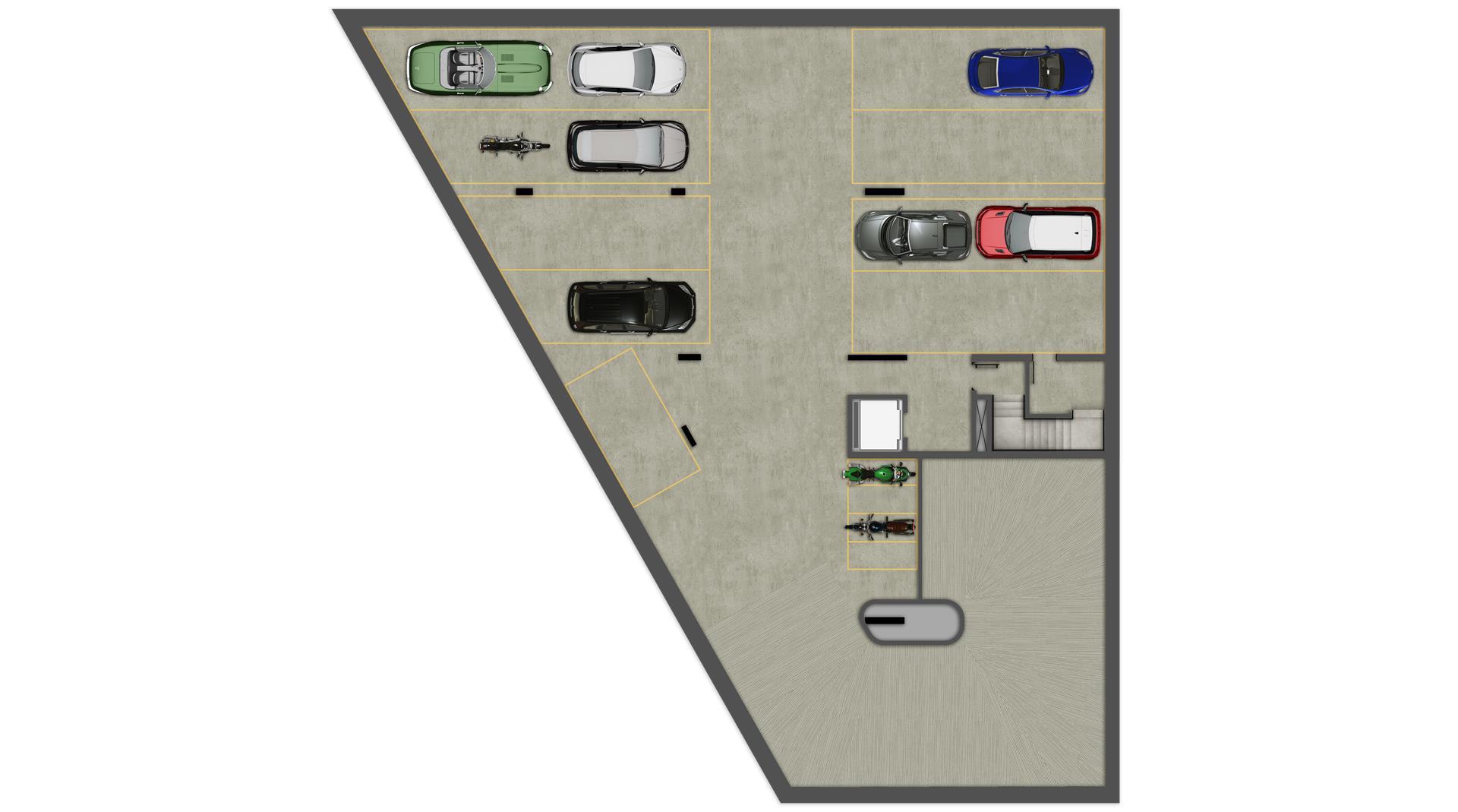 Planta Estacionamento 2° Subsolo